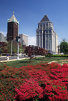 Greensboro, NC, North Carolina, Skyline of downtown Greensboroand azalea