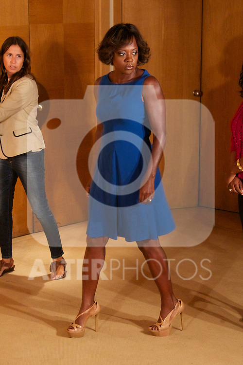 Viola Davis, Emma Stone, Octavia Spencer and Tate Taylor attend 'Criadas y Senoras' (The Help) photocall at Hesperia Hotel on October 3, 2011 in Madrid, Spain..Photo: Cesar Cebolla / ALFAQUI