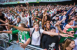 Stockholm 2014-05-24 Fotboll Superettan Hammarby IF - Varbergs BoIS FC  :  <br /> Hammarbys supportrar &auml;r glada och jublar<br /> (Foto: Kenta J&ouml;nsson) Nyckelord:  Superettan Tele2 Arena HIF Bajen Varberg BoIS supporter fans publik supporters jubel gl&auml;dje lycka glad happy