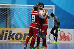 Al Quadisa vs Dabiri Tabriz during the 2014 AFC Futsal Club Championship Group Stage B match on August 26, 2014 at the Shuangliu Sports Centre in Chengdu, China. Photo by World Sport Group