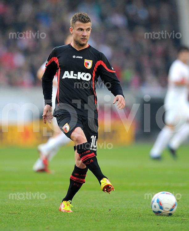 FUSSBALL   1. BUNDESLIGA  SAISON 2011/2012   13. Spieltag   20.11.2011 VfB Stuttgart - FC Augsburg      Daniel Baier (FC Augsburg)