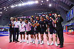 Japan team group (JPN),<br /> AUGUST 31, 2018 - Sepak takroae : <br /> Men's semi-final match between Japan - Vietnam<br /> at Jakabaring Sport Center Ranau Hall <br /> during the 2018 Jakarta Palembang Asian Games <br /> in Palembang, Indonesia. <br /> (Photo by Yohei Osada/AFLO SPORT)