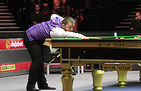 Mark Allen plays a shot during the Dafabet Masters Quarter Final 1 match between Mark Allen and Barry Hawkins at Alexandra Palace, London, England on 14 January 2016. Photo by Liam Smith / PRiME Media Images