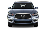 Car photography straight front view of a 2016 Infiniti QX60 - 5 Door Suv Front View