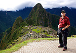 Steve overlooking the ruins at Machupicchu.