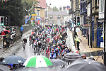 The riders pass through Ilkley during the Men Elite Road Race of the UCI World Championships 2019 running 280km from Leeds to Harrogate, England. 29th September 2019.<br /> Picture: Allan McKenzie/SWpix.com | Cyclefile<br /> <br /> All photos usage must carry mandatory copyright credit (© Cyclefile | Allan McKenzie/SWpix.com)