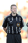 24 August 2013: Match referee Drew Fischer. The Carolina RailHawks played the Minnesota United FC Loons at WakeMed Stadium in Cary, NC in a 2013 North American Soccer League Fall Season game. Carolina won 1-0.