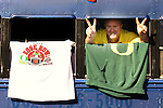 01/10/11--Tim Kerr of Lake Oswego flashes the pase sign inside of the  Big Dog Luxury Liner of Phoenix before the BCS National Championship..Photo by Jaime Valdez......