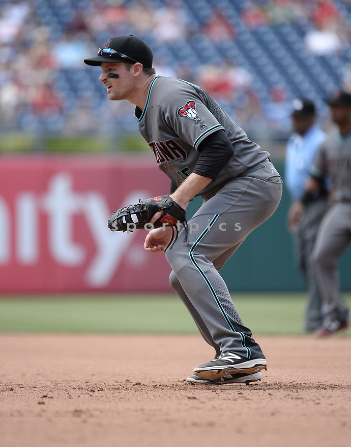 Arizona Diamondbacks Phil Gosslin (15) during a game against the Philadelphia Phillies on June 20, 2016 at Citizens Bank Park in Philadelphia, PA. The Diamondbacks beat the Phillies 3-1.