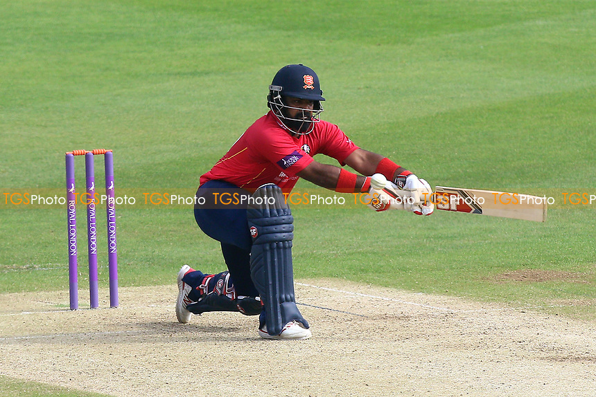 Ashar Zaidi in batting action for Essex during Kent Spitfires vs Essex Eagles, Royal London One-Day Cup Cricket at the St Lawrence Ground on 17th May 2017