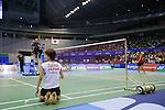 (L to R) Shizuka Uchida, Akane Yamaguchi, (JPN), SEPTEMBER 22, 2013 - Badminton : Yonex Open Japan 2013 Women's Singles final at Tokyo Metropolitan Gymnasium, Tokyo, Japan. (Photo by Yusuke Nakanishi/AFLO SPORT) [1090]