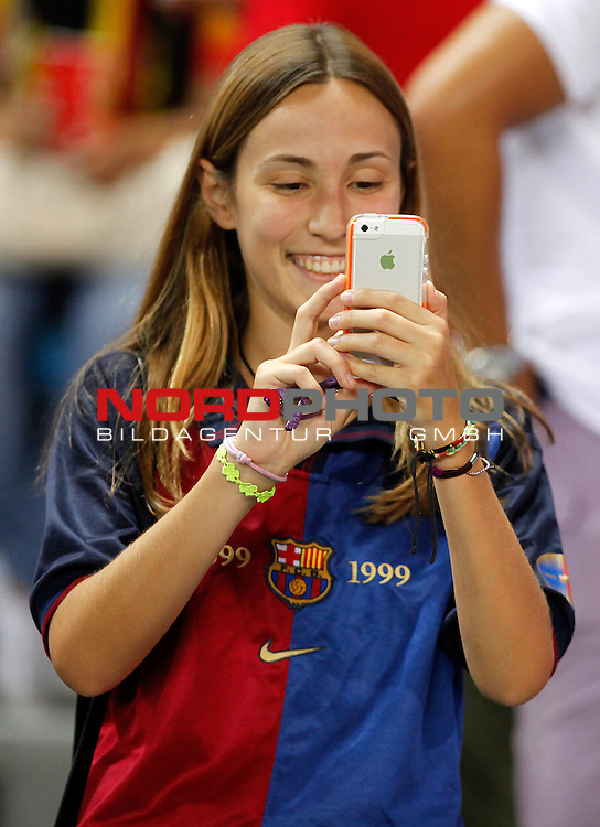 FC Barcelona's fan during Supercup of Spain 1st match.August 21,2013. Foto © nph / Victor Blanco)