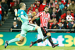 Athletic de Bilbao's Mikel Balenziaga (r) and FC Barcelona's Andres Iniesta during Spanish Kings Cup match. January 05,2017. (ALTERPHOTOS/Acero)