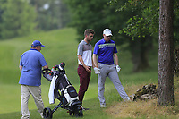 Eanna Griffin (Waterford) and sean Flanagan (Co. Sligo) (L) during the final of the 2018 Connacht Stroke Play Championship, Portumna Golf Club, Portumna, Co Galway.  10/06/2018.<br /> Picture: Golffile | Fran Caffrey<br /> <br /> <br /> All photo usage must carry mandatory copyright credit (&copy; Golffile | Fran Caffrey)