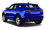 Car pictures of rear three quarter view of a 2018 Jaguar E-PACE R-Dynamic S 4WD 5 Door SUV angular rear