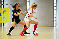 Canterbury Pride v Auckland Futsal Federation. Women's Futsal SuperLeague tournament at ASB Sports Centre in Wellington, New Zealand on Saturday, 16 February 2019. Photo: Dave Lintott / lintottphoto.co.nz