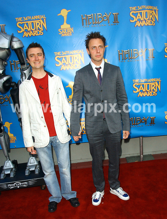**ALL ROUND PICTURES FROM SOLARPIX.COM**.**SYNDICATION RIGHTS FOR UK, SPAIN, PORTUGAL, AUSTRALIA, S.AFRICA & DUBAI (U.A.E) ONLY**.The 34th Annual Saturn Awards held at the  Universal Hilton Hotel in Universal City in California in the USA. .This pic:Sean Gunn, James Gunn.JOB REF:6728-PHZ/Albert L. Ortega    DATE:24_06_08 .**MUST CREDIT SOLARPIX.COM OR DOUBLE FEE WILL BE CHARGED* *UNDER NO CIRCUMSTANCES IS THIS IMAGE TO BE REPRODUCED FOR ANY ONLINE EDITION WITHOUT PRIOR PERMISSION*
