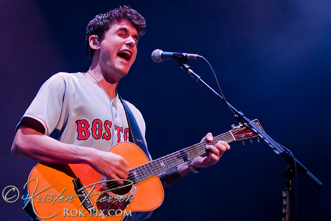 John Mayer performs at Comcast Center, Mansfield, Massachusetts, July 12, 2008
