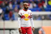 Thierry Henry (14) of the New York Red Bulls. The New York Red Bulls and Chivas USA played to a 1-1 tie during a Major League Soccer (MLS) match at Red Bull Arena in Harrison, NJ, on March 30, 2014.