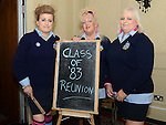 Debbie (Reilly) McCole, Susan (Sheppard) Rouse and Linda (Keelaghan) O'Brien get ready for their Class of '83 school reunion in the Westcourt hotel. Photo:Colin Bell/pressphotos.ie