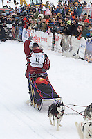 Karen Ramstead Willow restart Iditarod 2008.