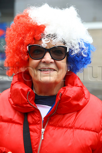 29.03.2016. Stade de France, Paris, France. International football friendly. France versus Russia.  Supporters of France