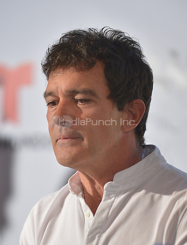 MIAMI, FL - JUNE 01: Antonio Banderas attends a press conference to announce Miami Fashion Week at Mandarin Oriental on June 1, 2016 in Miami, Florida Credit: MPI10 / MediaPunch