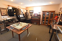 NWA Democrat-Gazette/FLIP PUTTHOFF<br />Some of the items on display Feb. 7 2018 in one room of the Lowell Historical Museum.