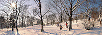 Városliget. City park in the snow - Budapest Hungary
