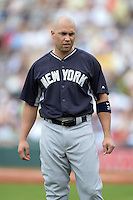 Outfielder Carlos Beltran (36) of the New York Yankees during a spring training game against the Pittsburgh Pirates on February 26, 2014 at McKechnie Field in Bradenton, Florida.  Pittsburgh defeated New York 6-5.  (Mike Janes/Four Seam Images)