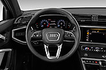 Car pictures of steering wheel view of a 2019 Audi Q3 Premium Plus 5 Door SUV