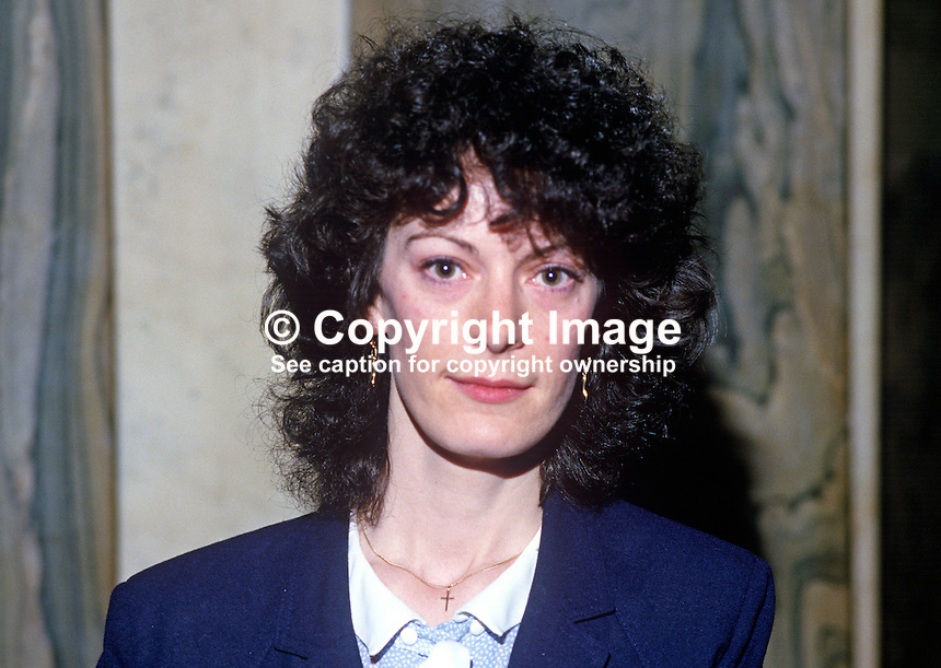Teresa Holland, councillor, Provisional Sinn Fein, Belfast, N Ireland, 19850509TH1..Copyright Image from Victor Patterson, 54 Dorchester Park, Belfast, UK, BT9 6RJ..Tel: +44 28 9066 1296.Mob: +44 7802 353836.Voicemail +44 20 8816 7153.Skype: victorpattersonbelfast.Email: victorpatterson@me.com.Email: victorpatterson@ireland.com (back-up)..IMPORTANT: If you wish to use this image or any other of my images please go to www.victorpatterson.com and click on the Terms & Conditions. Then contact me by email or phone with the reference number(s) of the image(s) concerned.
