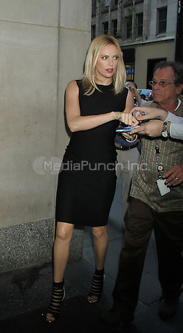 May 29, 2012 Charlize Theron at NBC's Today Show to talk about her new movie Snow White and The Huntsman in New York City. © RW/MediaPunch Inc.