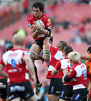 Franco Mostert of the Emirates Lions during the Super Rugby quarter-final match between the Emirates Lions and the Jaguares at the Emirates Airlines Park Stadium,Johannesburg, South Africa on Saturday, 21 July 2018. Photo: Steve Haag / stevehaagsports.com