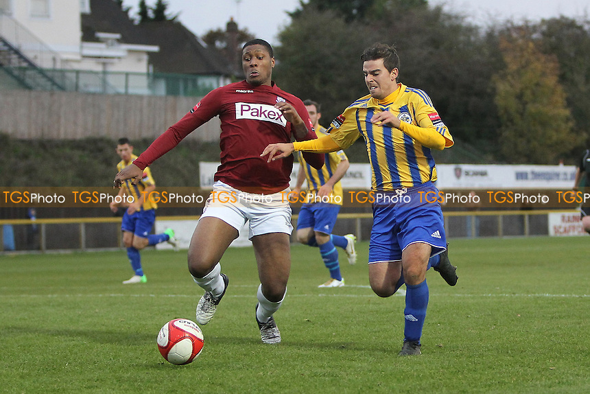 Hussein Isa in action for Romford - Romford vs Potters Bar Town - Ryman League Division One North Football at Ship Lane, Thurrock FC - 03/11/12 - MANDATORY CREDIT: Gavin Ellis/TGSPHOTO - Self billing applies where appropriate - 0845 094 6026 - contact@tgsphoto.co.uk - NO UNPAID USE.