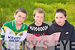 Studing the form at the coursing in Kilflynn on Sunday were Tom McElligott, Tyron Pyle and Sean Gleasure, from Kilflynn.   Copyright Kerry's Eye 2008