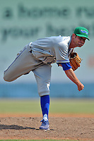 Lexington Legends pitcher Chas Byrne #4 delivers a pitch during a game against the Asheville Tourists at McCormick Field on June 16, 2013 in Asheville, North Carolina. The Tourists won the game 8-7. (Tony Farlow/Four Seam Images)