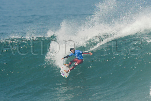 April 19th Bells Beach, Melbourne, Victoria, Australia; Rip Curl Pro Bells Beach Surfing; Adriano De Souza (BRA) surfs a wave during his fifth round heat against Wiggolly Dantas (BRA); Adriano De Souza (BRA) went on to win the heat