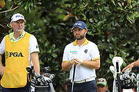 Andy Sullivan (ENG) and caddy Sean Mcdonagh on the 15th tee during Friday's Round 2 of the 2017 PGA Championship held at Quail Hollow Golf Club, Charlotte, North Carolina, USA. 11th August 2017.<br /> Picture: Eoin Clarke | Golffile<br /> <br /> <br /> All photos usage must carry mandatory copyright credit (&copy; Golffile | Eoin Clarke)