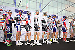 Riders at sign on for the start of the 2015 96th Milan-Turin 186km race starting at San Giuliano Milanese, Italy. 1st October 2015.<br /> Picture: Eoin Clarke | Newsfile