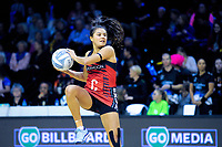Kimiora Poi (Tactix) in action during the ANZ Premiership netball match between the Central Pulse and Mainland Tactix at TSB Bank Arena in Wellington, New Zealand on Monday, 14 May 2018. Photo: Dave Lintott / lintottphoto.co.nz