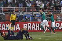 ATENÇÃO EDITOR: FOTO EMBARGADA PARA VEÍCULOS INTERNACIONAIS - SÃO PAULO, SP, 06 DE SETEMBRO DE 2012 - CAMPEONATO BRASILEIRO - PALMEIRAS x SPORT: Correa comemora gol durante partida Palmeiras x Sport Recife, válida pela 22ª rodada do Campeonato Brasileiro no Estádio do Pacaembú. FOTO: LEVI BIANCO - BRAZIL PHOTO PRESS