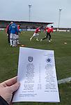 Rangers warming up at Gayfield