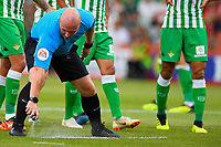 Referee Simon Hooper makes his mark during AFC Bournemouth vs Real Betis, Friendly Match Football at the Vitality Stadium on 3rd August 2018