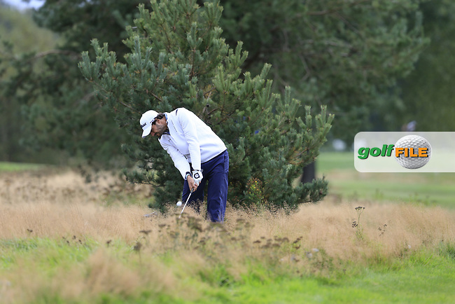 Clement Sordet (FRA) on the 18th during the 1st round at the Porsche European Open, Green Eagles Golf Club, Luhdorf, Winsen, Germany. 05/09/2019.<br /> Picture Fran Caffrey / Golffile.ie<br /> <br /> All photo usage must carry mandatory copyright credit (© Golffile   Fran Caffrey)