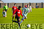 Super sub Samson Ayava on Target as he scores in the UNDER 15 NATIONAL CUP Tralee Dynamos V  Creeves Celtic at Cahermoneen on Saturday