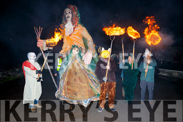 The druids lead St Bridget for the parade  at the Biddy festival in Killorglin Saturday night