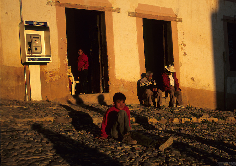 The courtyard in Real de Catorce, Mexico.