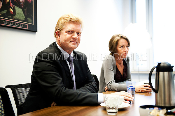 Michel Vermaerke, president of Febelfin, the Belgian Federation of the Financial sector (Belgium, 14/09/2011)