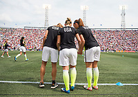 Birmingham, AL - September 20, 2015: The USWNT defeated Haiti 8-0 during the Victory Tour at Legion Field.